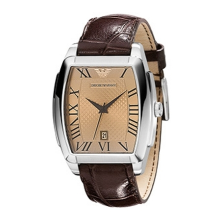 Emporio Armani Watch AR0934 Brown Leather Strap
