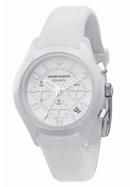 aaac0f97 Emporio Armani AR1431 Ladies White Ceramic White Dial Watch