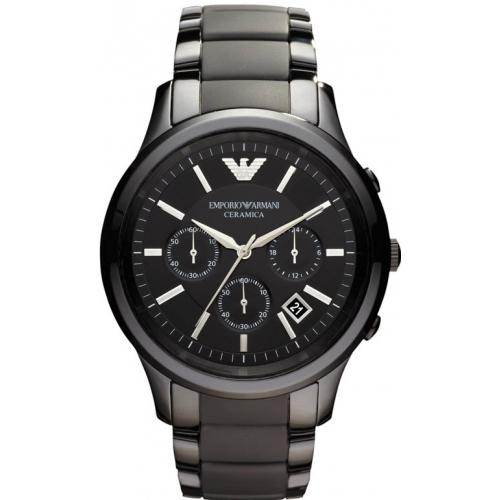 Emporio Armani AR1452 Men's Black Ceramica Chronograph ...