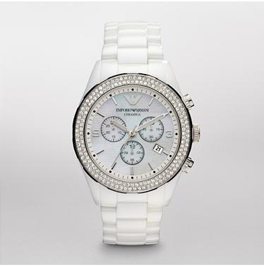 93588be774 Emporio Armani AR1456 Latest Model Ladies White Ceramica Watch