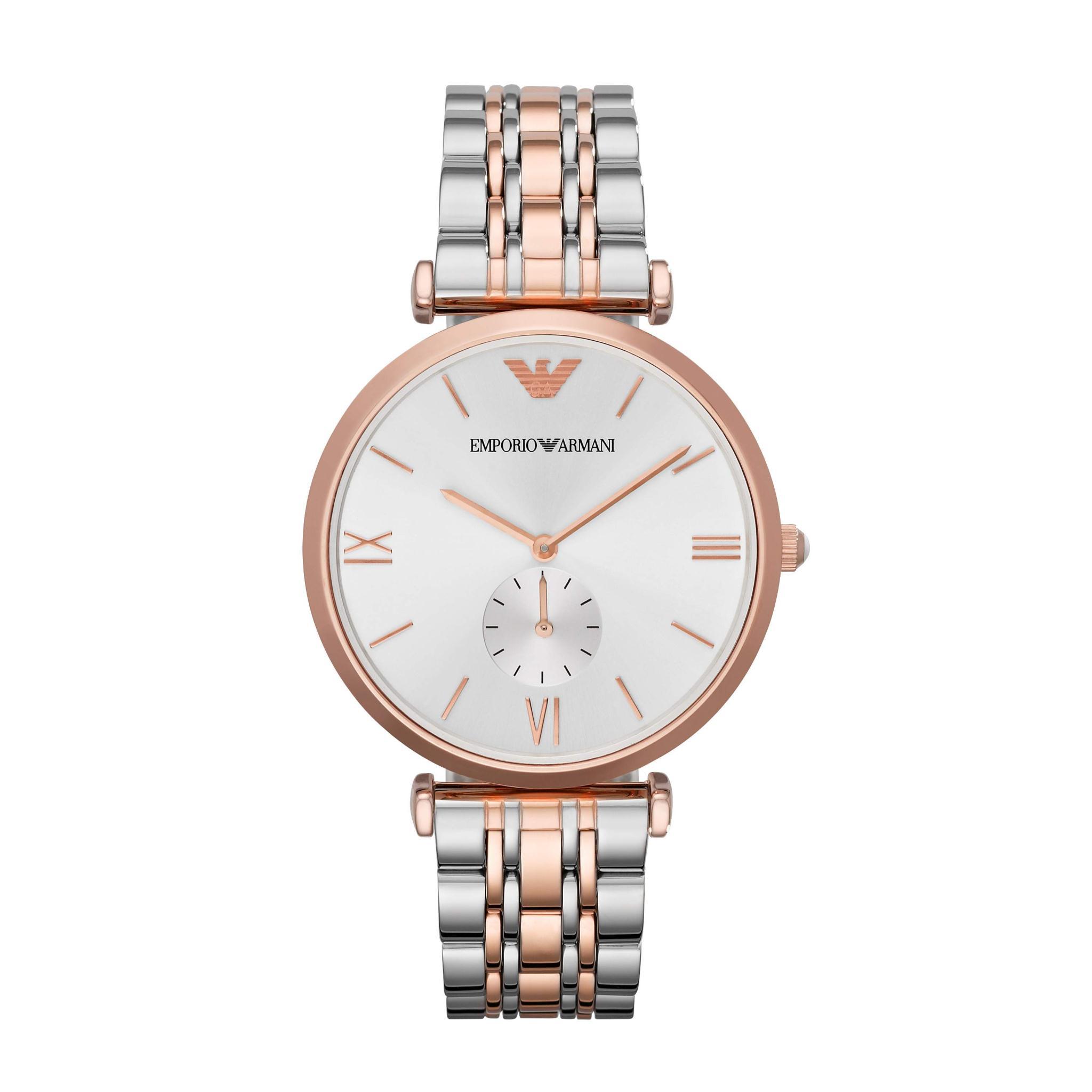 Emporio Armani AR1677 Mens Rose Gold & Steel Watch
