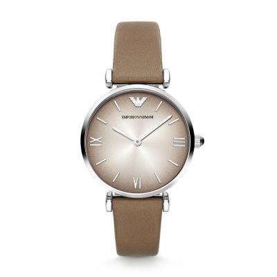 8136d91a0fb Emporio Armani AR1768 Ladies New Retro Leather Strap Watch