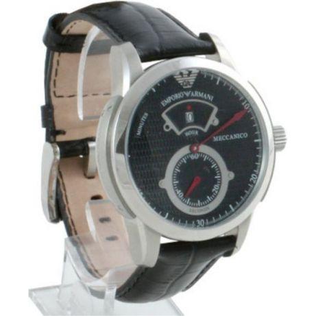 44d26dc354b6 Emporio Armani AR4602 Black Leather Mens Designer Meccanico