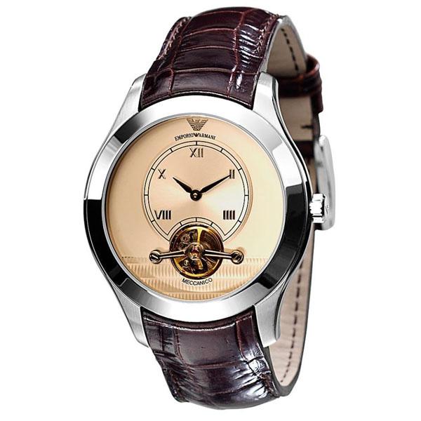 ab8652edf3b9 Emporio Armani AR4638 - Mens Meccanico Leather Strap Automatic Watch