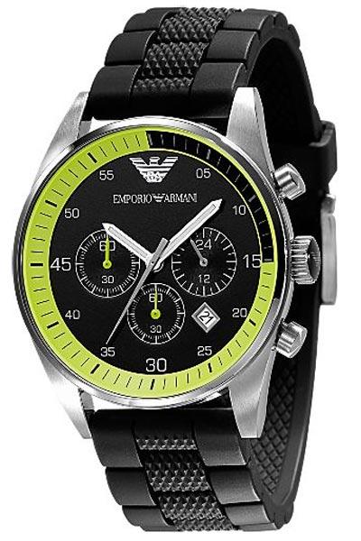 2b06d2f4 Emporio Armani Men's Black Sports Watch AR5865