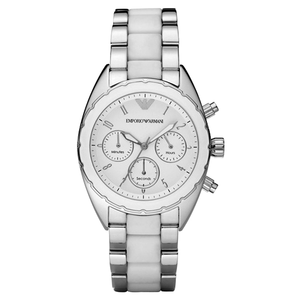 ea8d32733 Emporio Armani AR5940 - Ladies Sportivo Chronograph Two Tone Watch