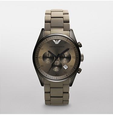Emporio Armani AR5951 Sportivo ladies Grey Chrono Silicone Watch 2189f9a3ea4b