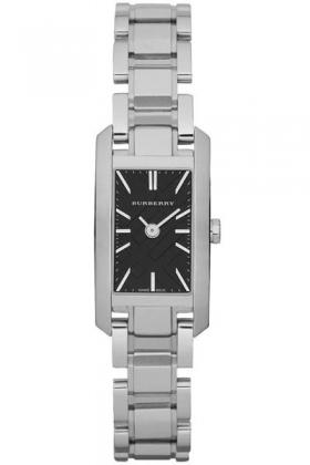 04d4af3c672 Burberry BU9601 Women s Rectangular Stainless Steel Watch