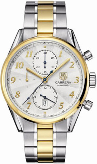 7a7b1bf4ebcd Tag Heuer Carrera Heritage Chronograph Silver Dial Automatic Mens Watch