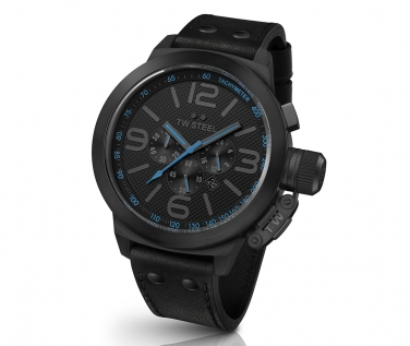 6b4a4e162b9 TW Steel Canteen Cool Black and Blue Chronograph 50mm Mens Watch