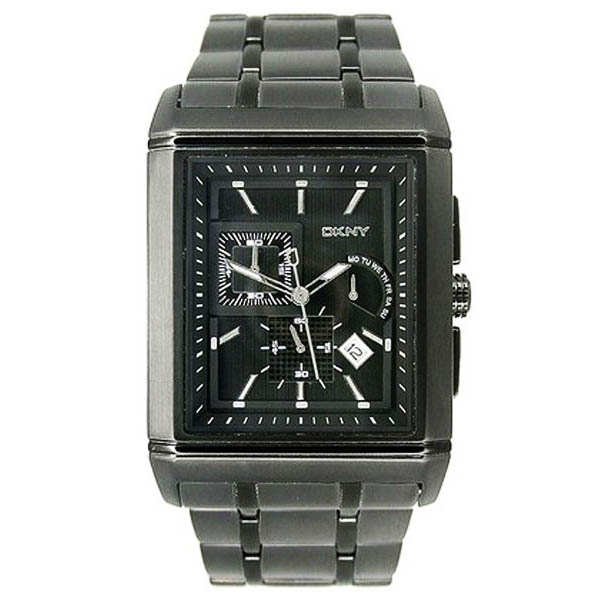 c13bd281eb0 DKNY NY1376 - Mens Multi Function Black Ion Plated Bracelet Watch