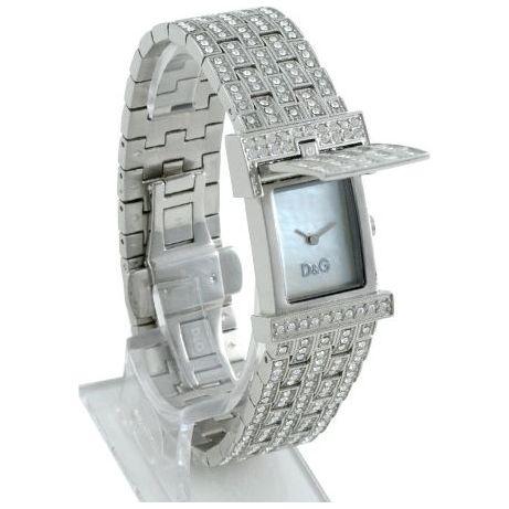 D Amp G Bianca Silver White Crystal Designer Womens Watch Dw0002