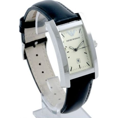 Emporio Armani Ar0101 Black Leather Mens Luxury Watch