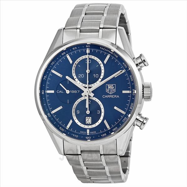 f2ba136012f Tag Heuer Carrera Blue Dial Chronograph Stainless Steel Mens Watch