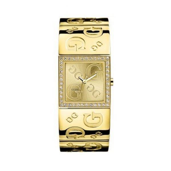 13b268290fae Guess Watches G2G I80340L1 Womens Polished Gold G Bangle Strap