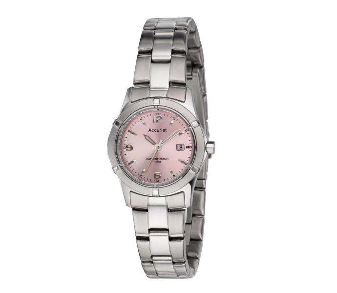 Accurist Lb1550p Ladies Pink Face Watch