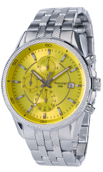 Accurist Mb935y Gents Chronograph Yellow Face Watch