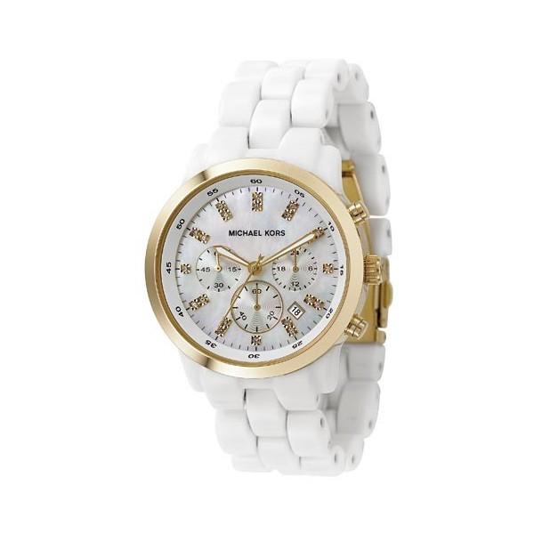 ed8a5bfedf11 Michael Kors Ladies Ceramic Silicone Chronograph Watch MK5218