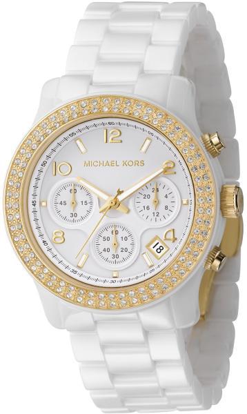 d51a7cd1a273 Michael Kors Ladies  White Ceramic Chronograph Watch - MK5237