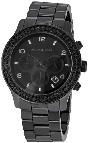 Michael Kors Latest Black Out Ceramic Chrono Ladies Watch