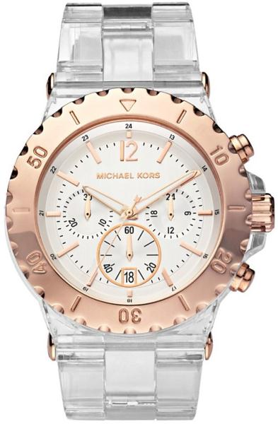 f65bf88ab1bbf Michael Kors Bel Aire Clear Resin Bracelet Watch MK5444