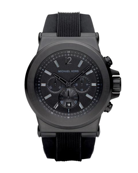 81ad0d9bc70a Michael Kors MK8152 Gents Watch with Black Rubber Strap   Black Dial