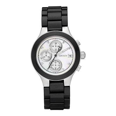 fe387460123 DKNY Ladies Black Chronograph Watch NY8064