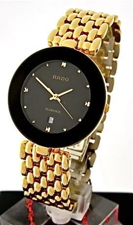 Rado R48743713 Black Face Gold Florence Gents Watch
