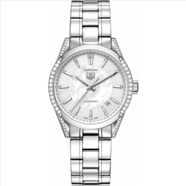 dcf6c6ecc092 Tag Heuer Carrera Mother of Pearl Diamond Automatic Ladies Watch