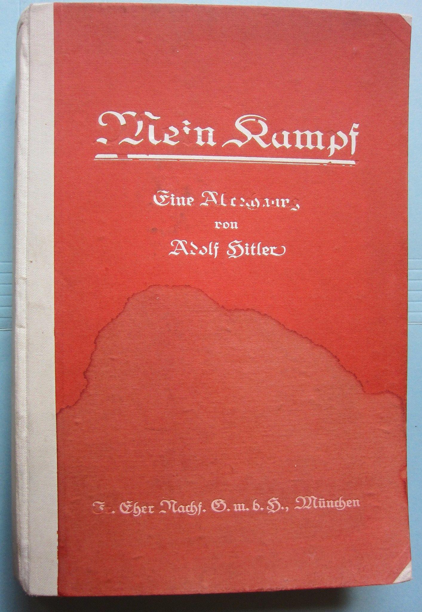 Adolf Hitler Book Mein Kampf