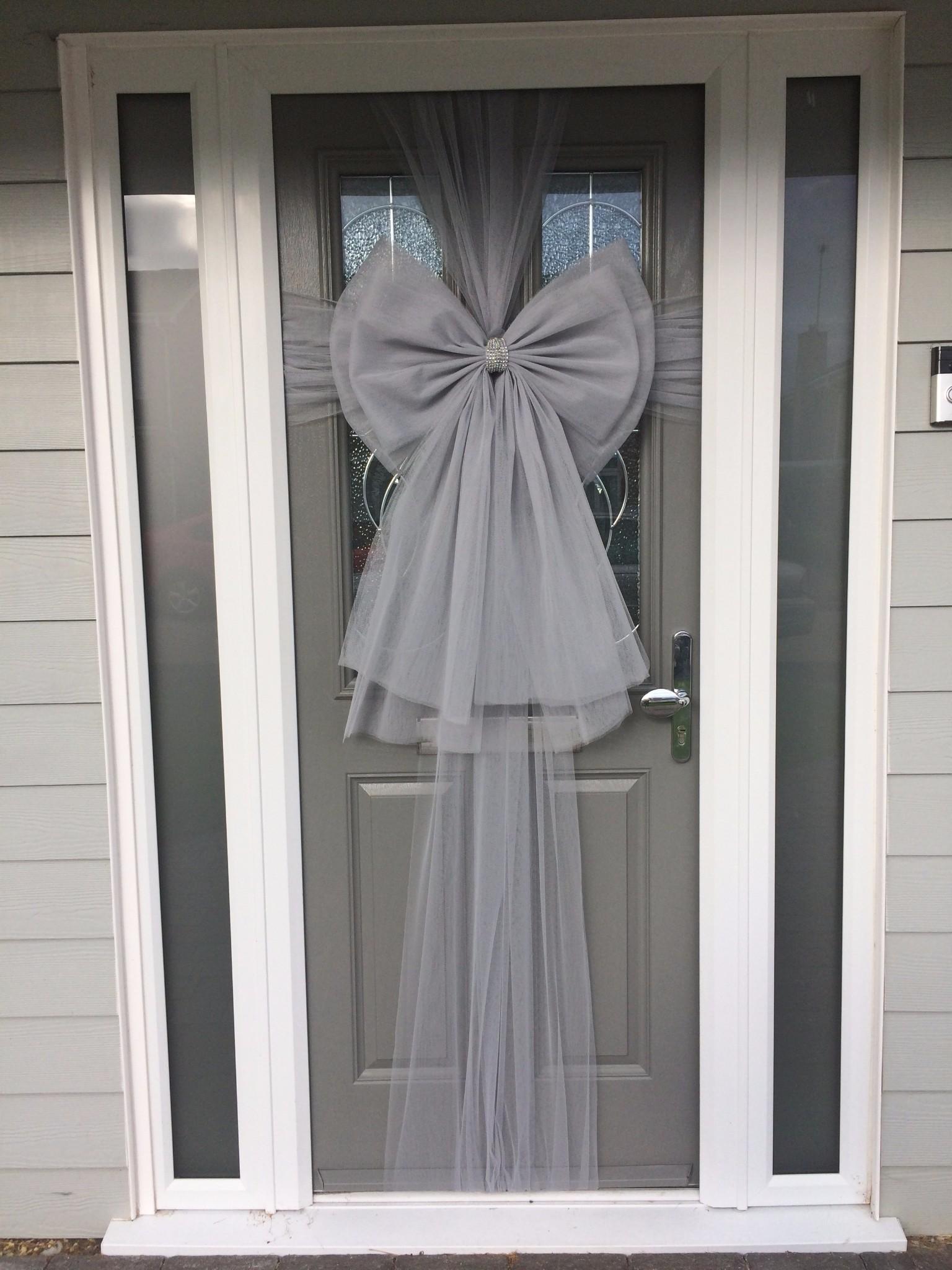 Silver Deluxe Bow; 010; The elegant door bow & 1505512877691_img_0735.jpg