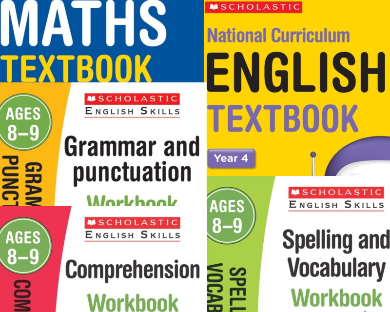 Year 4 Learning Pack [5 Books] KS2 SATs Textbooks and Workbooks for Maths  and English  Free P&P