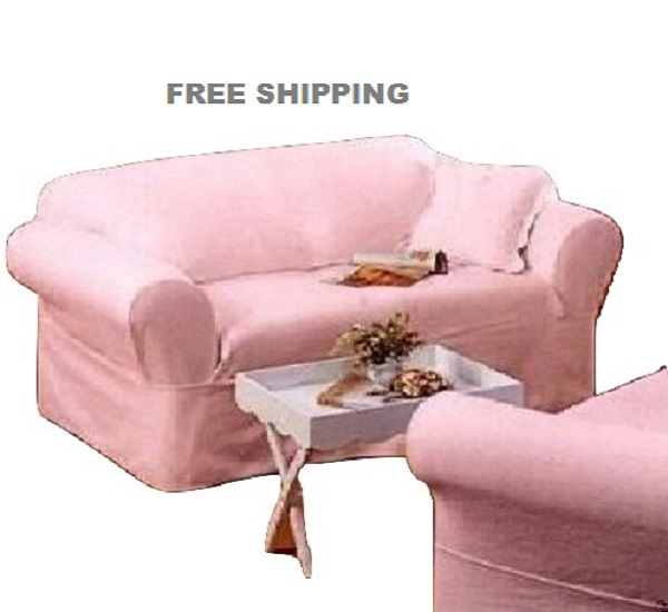 rachel ashwell sofa slipcover pink denim simply shabby chic couch. Black Bedroom Furniture Sets. Home Design Ideas
