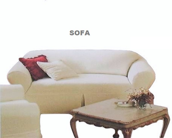 Farmhouse White SOFA Slipcover Shabby Chic Quilted Rachel
