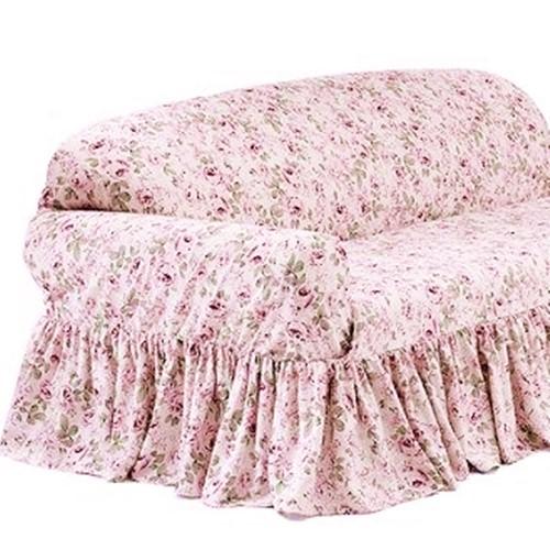 Rachel Ashwell Loveseat Slipcover Rosalie Pink Floral
