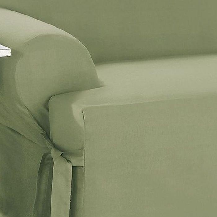 Dual Reclining Loveseat Slipcover T Cushion Cotton Sage
