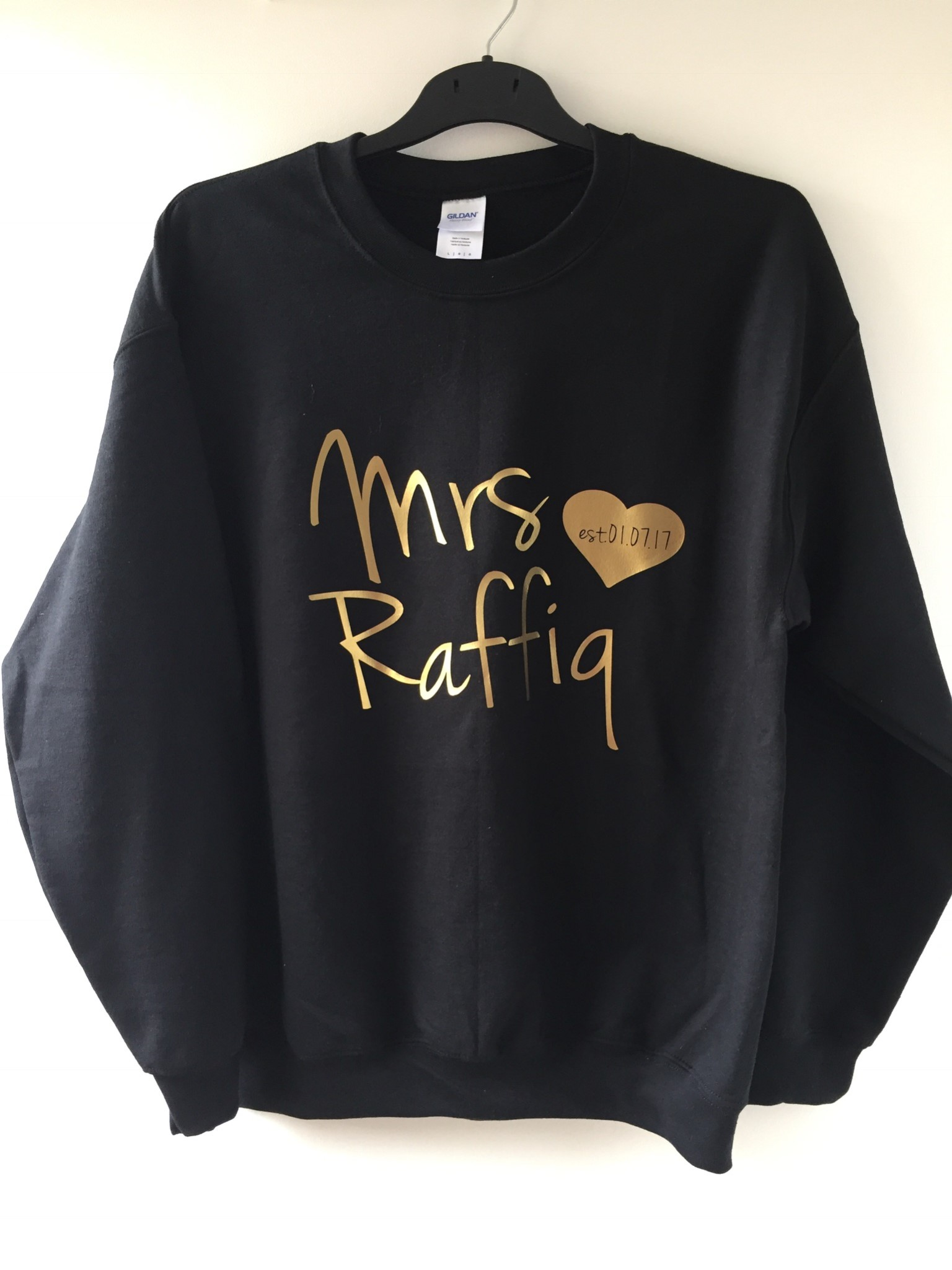 0f9891eaa Future Mrs Sweater, Personalised bride Sweater, Mrs Name to be Sweater