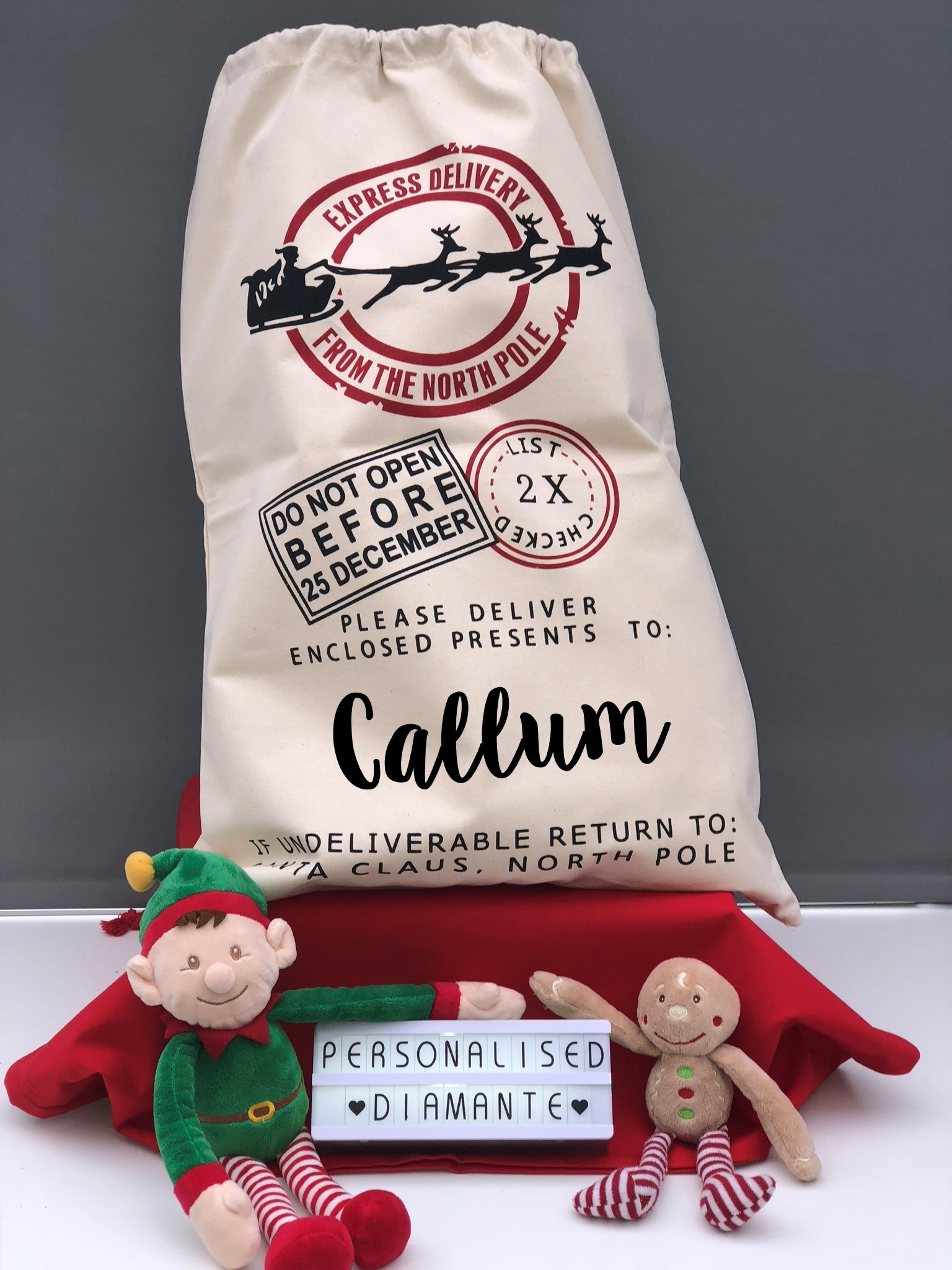 66f8c70f68b Christmas santa sack , personalised santa sack, santa sack , sack ...