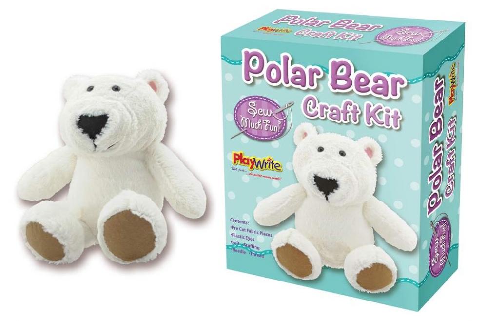 6 X Sew Your Own Plush Polar Bear Craft Sets