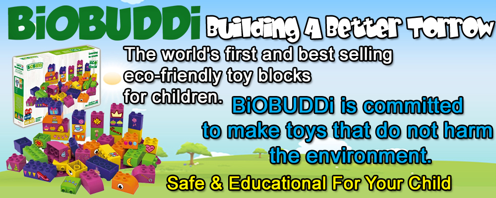 Biobuddy Eco Friendly Kids Building Blocks