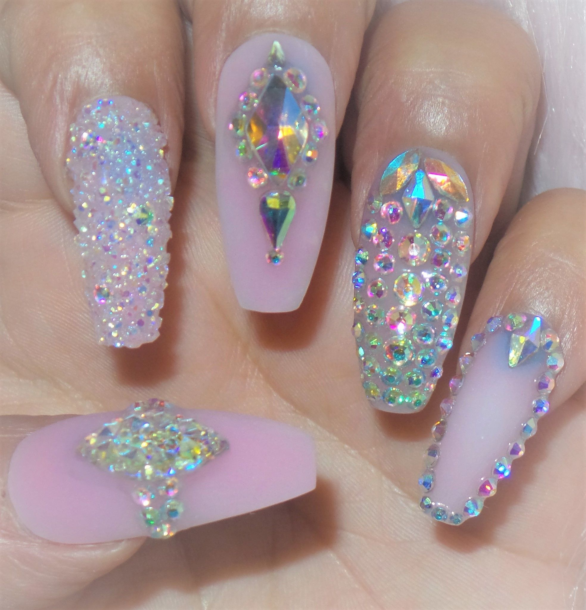 64cb7d39047 Crystal Bling press on nails