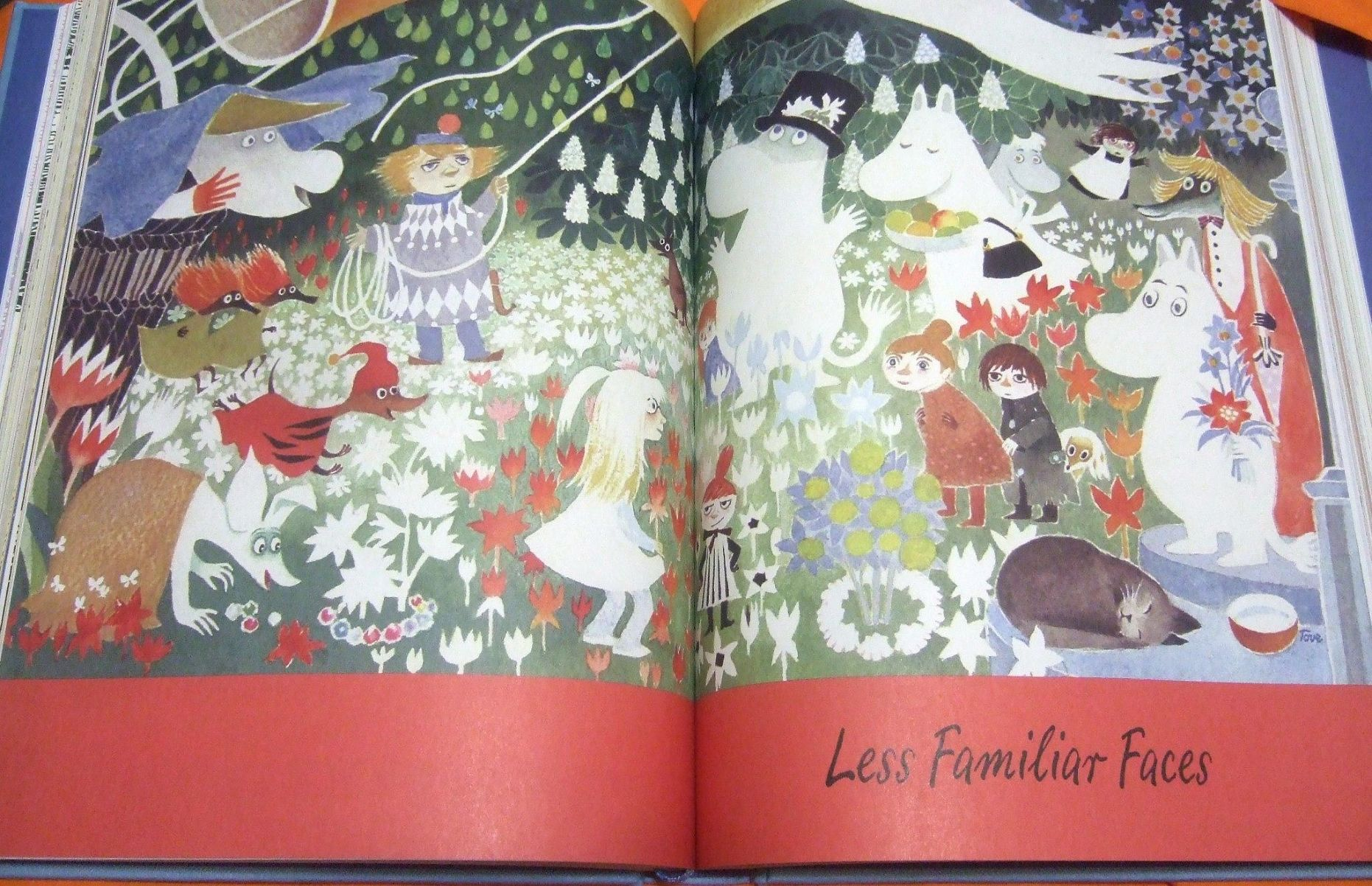 Sample of inside the Moomin Valley book