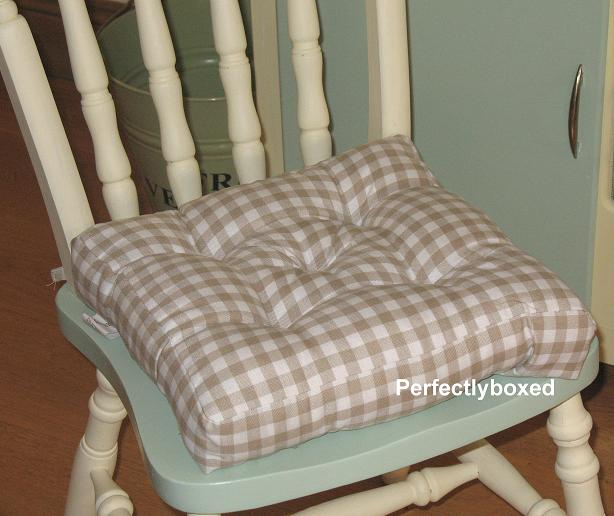 gingham seat pads at www