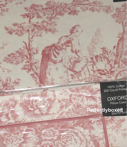 toile de jouy single duvet pink. Black Bedroom Furniture Sets. Home Design Ideas
