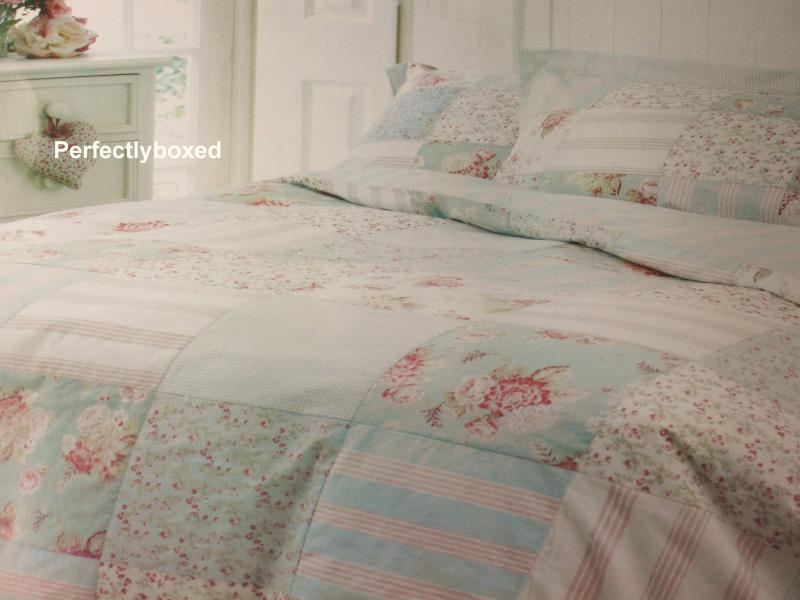 Duck Egg Blue King Patchwork Bedspread Www Perfectlyboxed Com