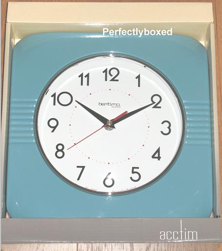 Acctim Carlton Blue Retro Clock Www Perfectlyboxed Com