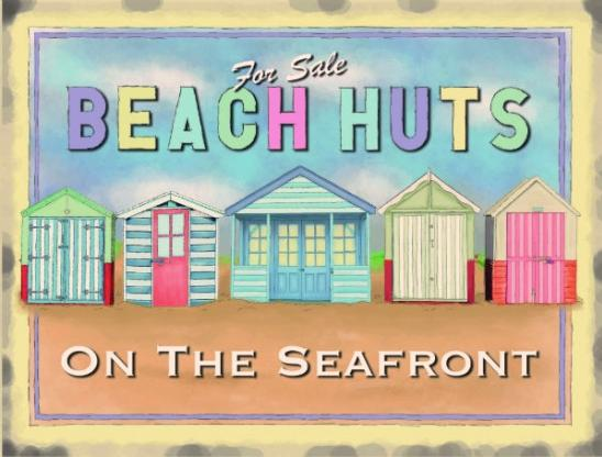 Metal Sign Beach Huts Www Perfectlyboxed Com