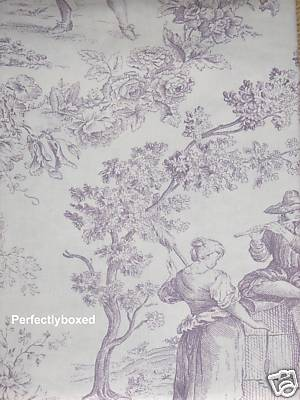 toile de jouy lilac duvets. Black Bedroom Furniture Sets. Home Design Ideas