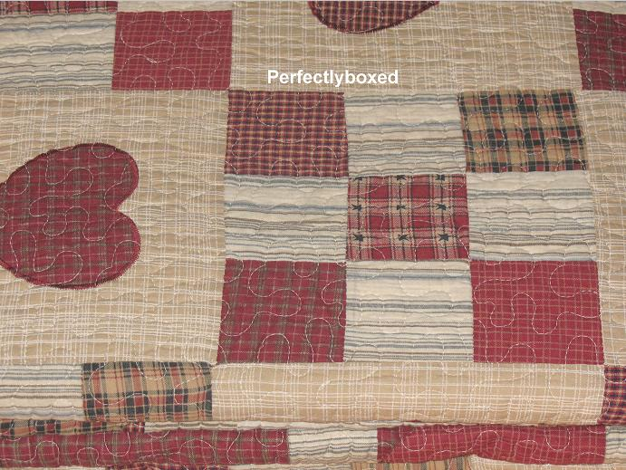 Patchwork Bedspread King Red Georgia American Quilt Www