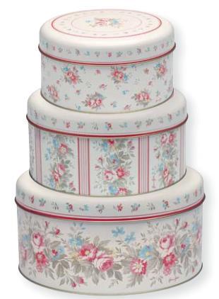 vintage cake tins. Black Bedroom Furniture Sets. Home Design Ideas